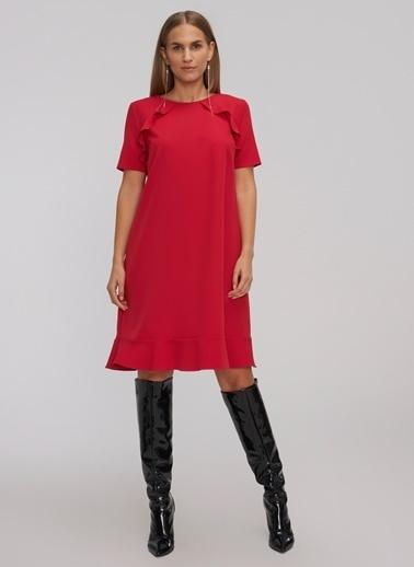 People By Fabrika Elbise Kırmızı